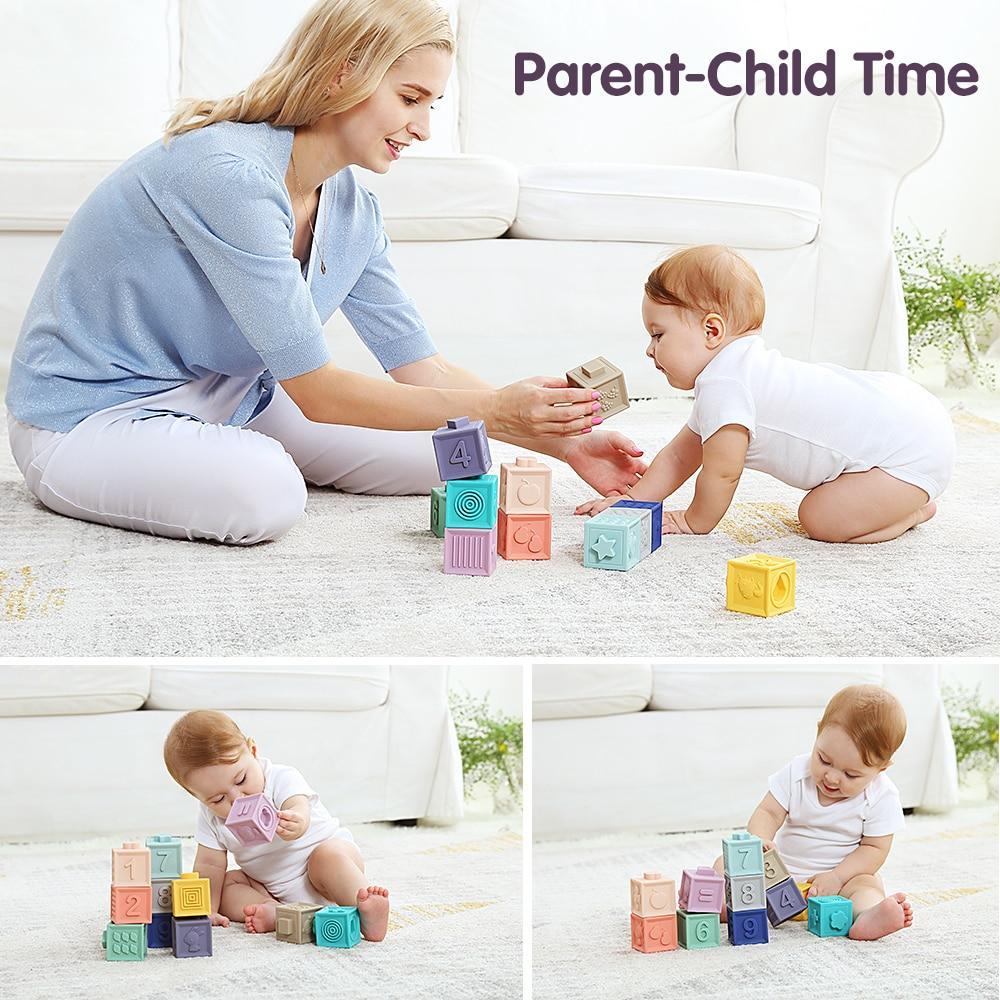 12 חתיכות אבני גומי לתינוקות - Mom & Me