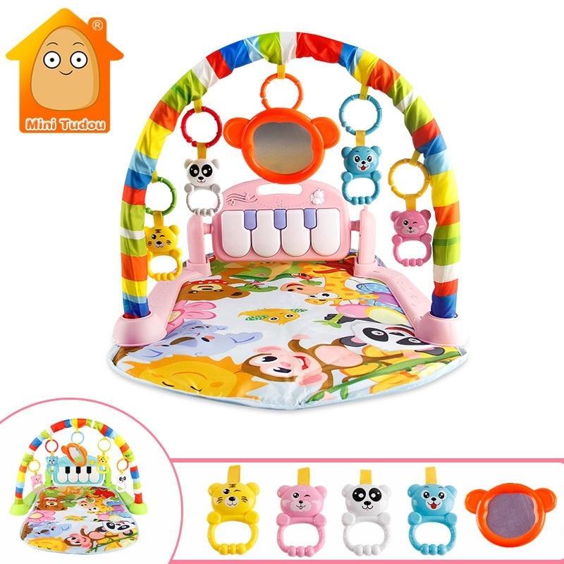 שטיח זחילה עם צעצועים ומוזיקה צבע ורוד - Mom & Me