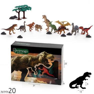 Animogo Animogo דינוזאורים בקופסא 20 יח' - Mom & Me