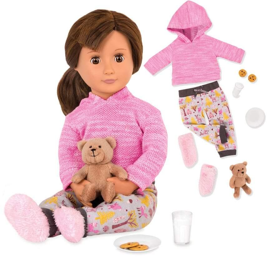 צעצועים פיג'מה עם דובון פלאש לבובה - Mom & Me