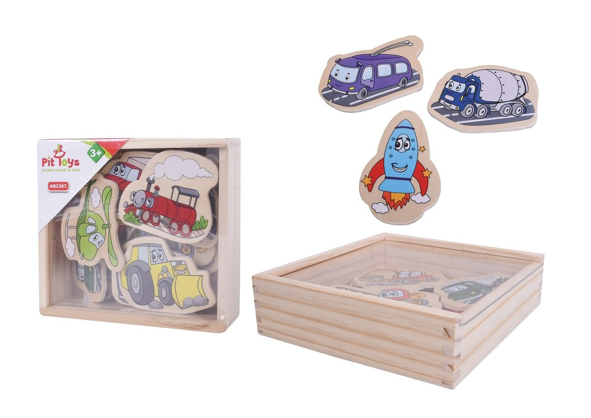 מוצרי עץ מגנט רכבים מעץ - מונטסורי - Mom & Me