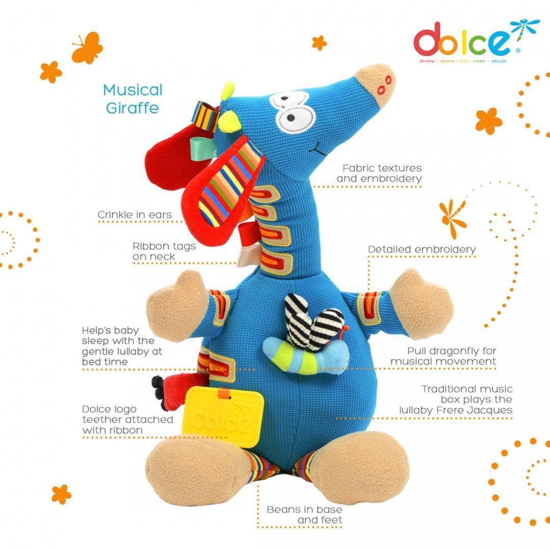 צעצועים צעצוע פעילות ג'ירפה מוזיקלית - Mom & Me